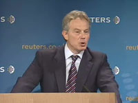 Tony Blair's lecture at Reuters (Source: Reuters)